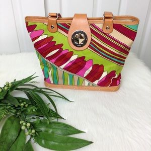 Kate Spade Multi Color Print Cabana Bag
